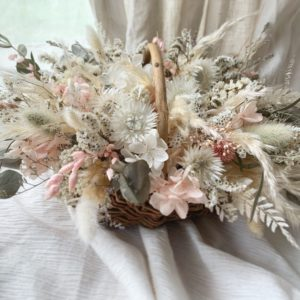 dry flower arrangement バスケットWP